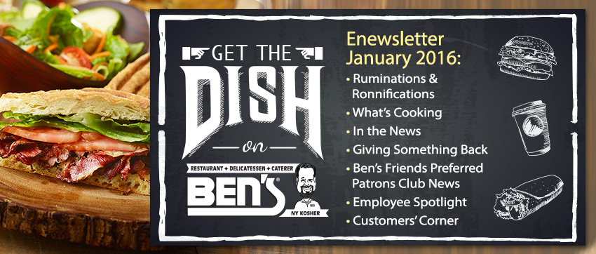 Ben's Deli enewsletter header