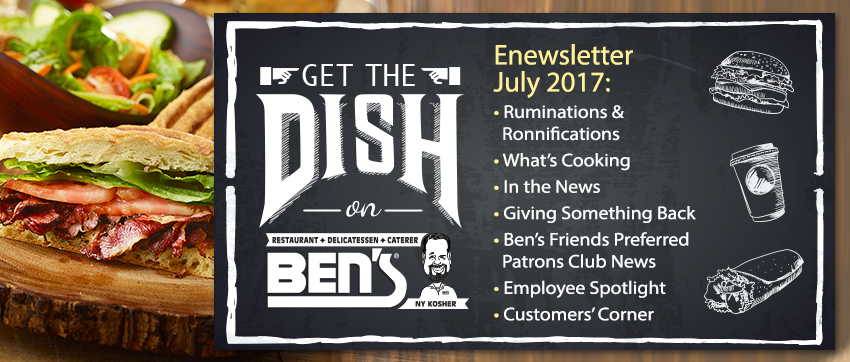 Ben's Deli enewsletter header