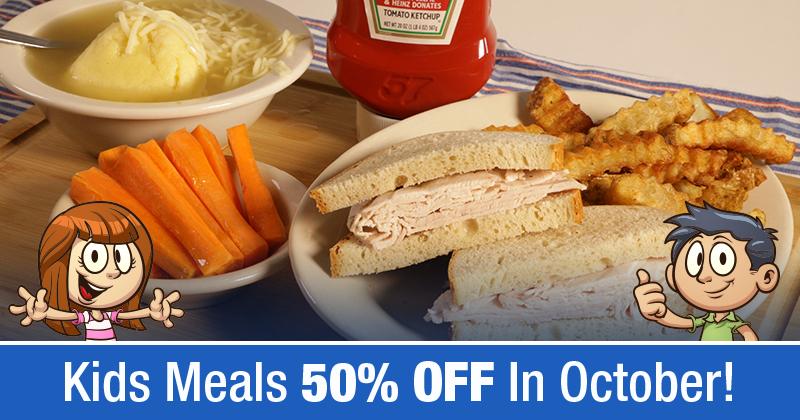 Ben's Kids Meals 50% OFF In October