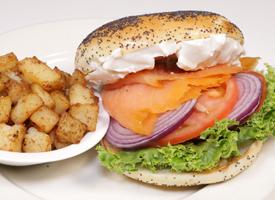 Ben's Manhattan Brunch: Nova Scotia Smoked Salmon On Toasted Bagel