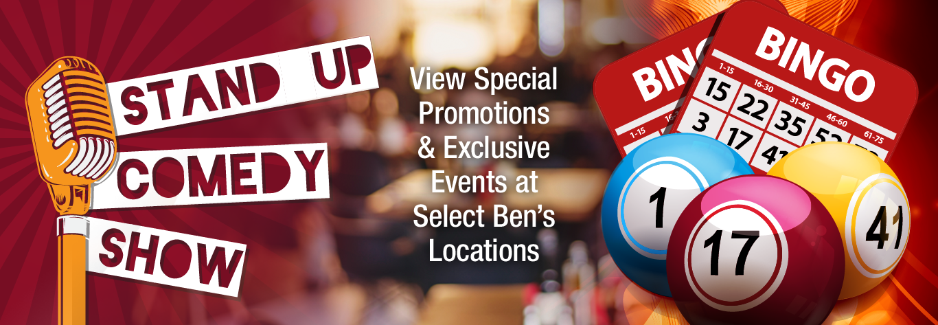 Ben's Special Promotions & Exclusive Events