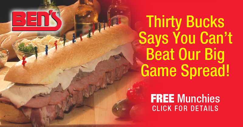 You Can't Beat Ben's Big Game Spread with FREE Munchies
